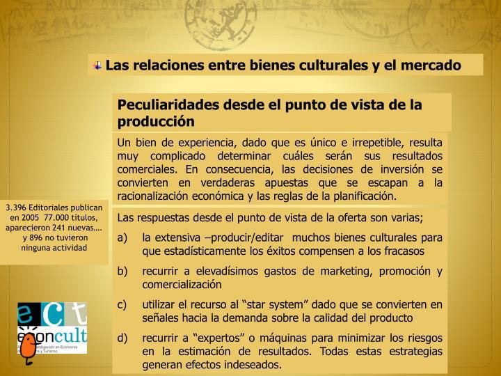 Las relaciones entre bienes culturales y el mercado