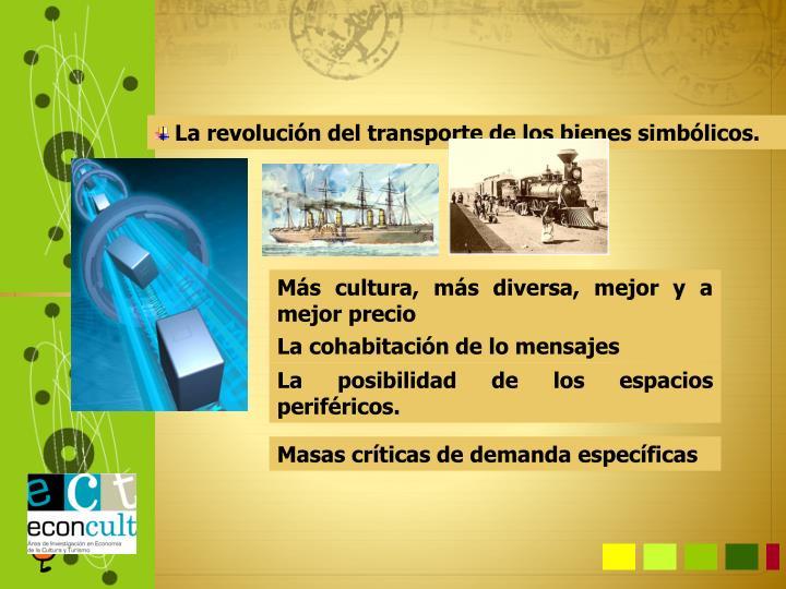 La revolución del transporte de los bienes simbólicos.