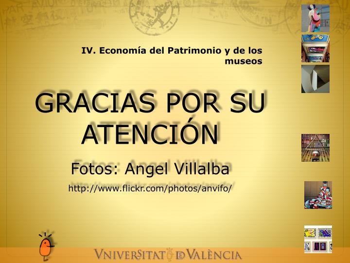 IV. Economía del Patrimonio y de los museos