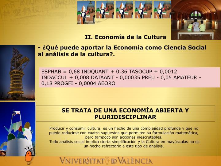 II. Economía de la Cultura
