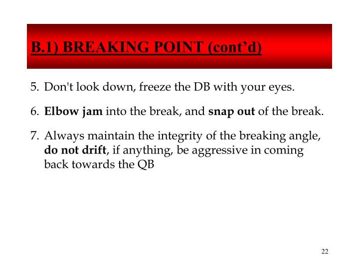 B.1) BREAKING POINT (cont'd)