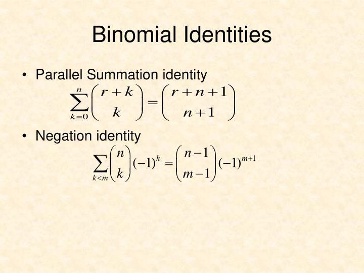 Binomial Identities