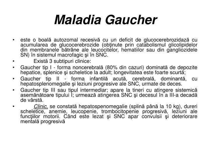 Maladia Gaucher