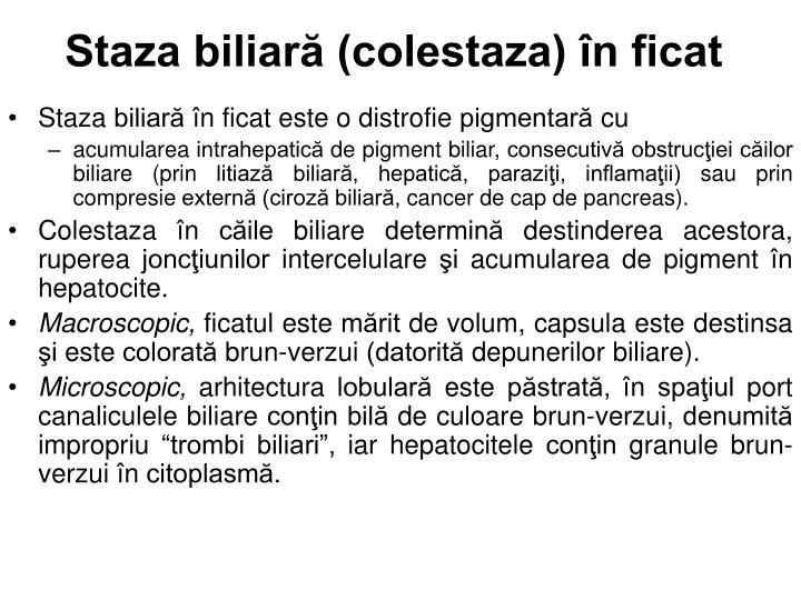 Staza biliară (colestaza) în ficat