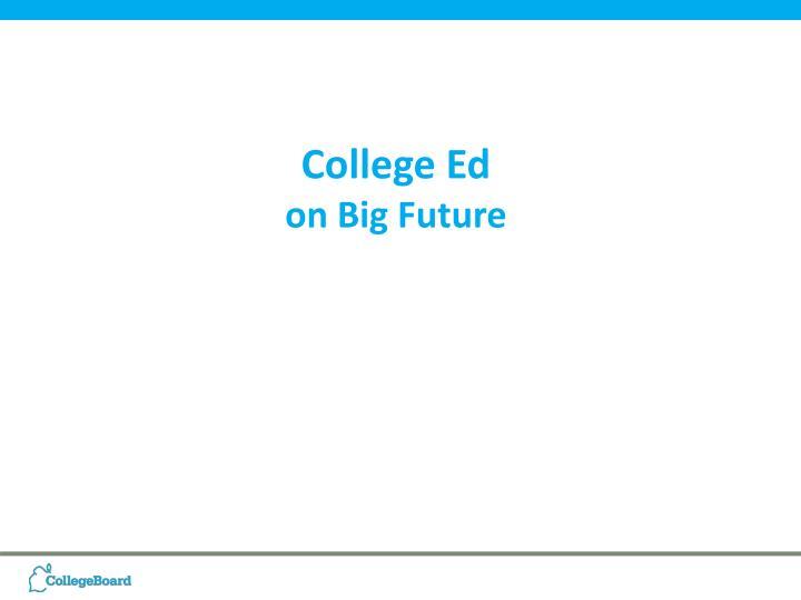 College Ed