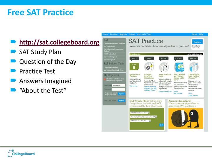 Free SAT Practice