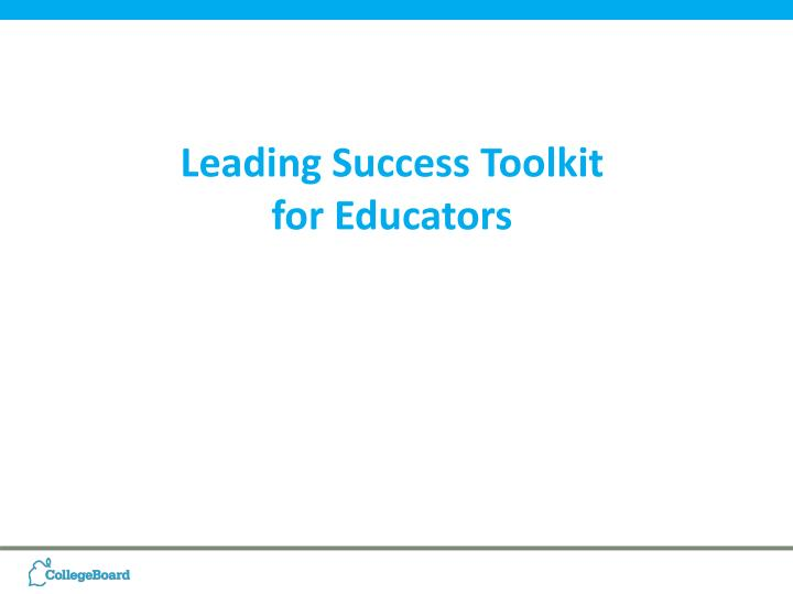 Leading Success Toolkit