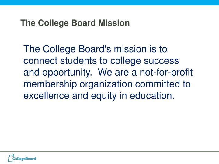 The College Board Mission