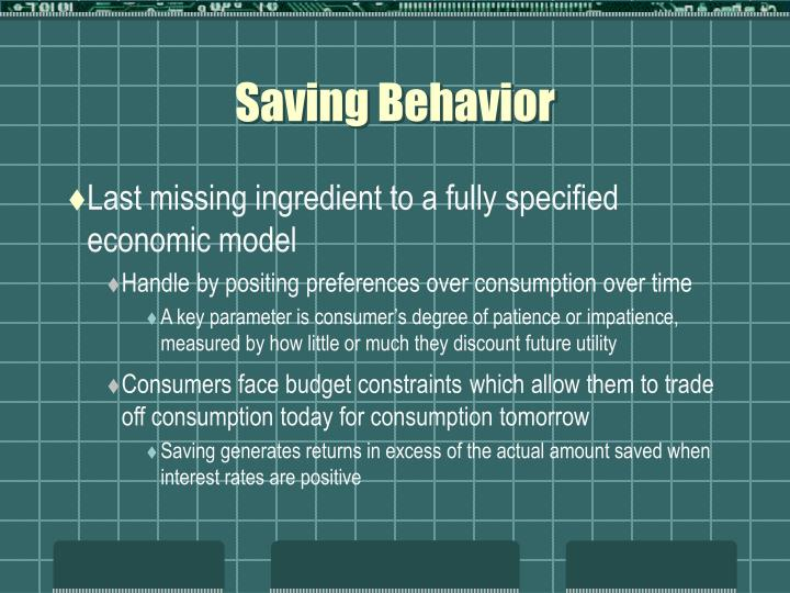 Saving Behavior