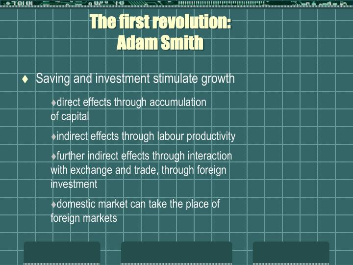 The first revolution adam smith