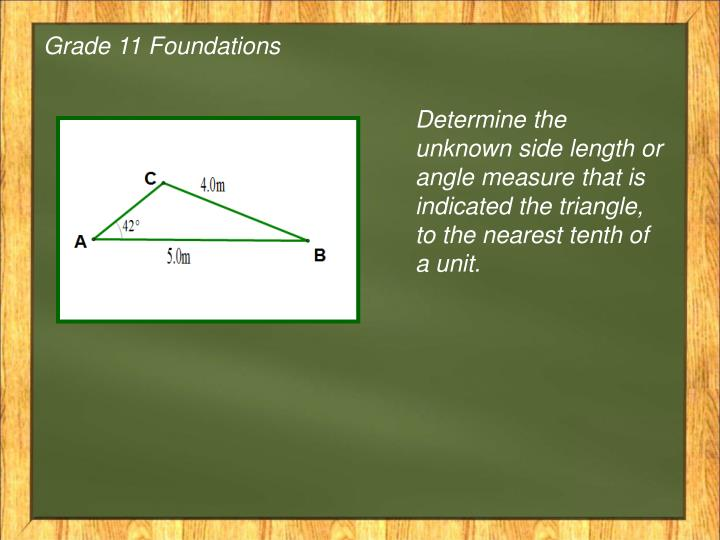Grade 11 Foundations