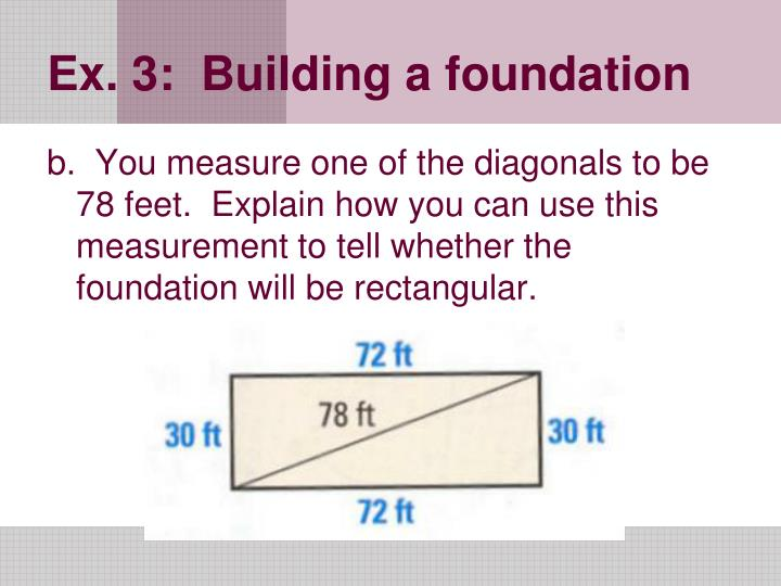Ex. 3:  Building a foundation