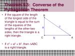 theorem 9 5 converse of the pythagorean theorem