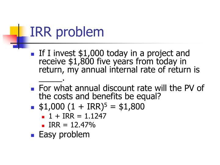 IRR problem
