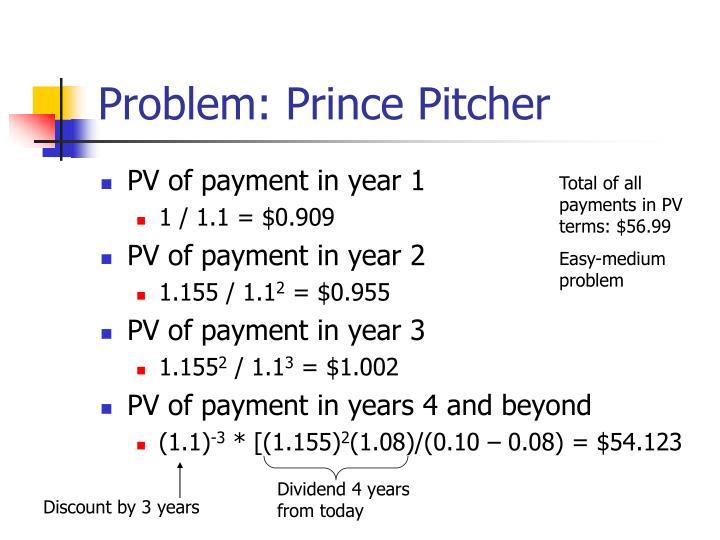 Problem: Prince Pitcher
