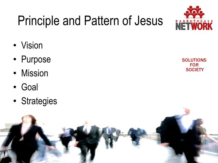 Principle and Pattern of Jesus