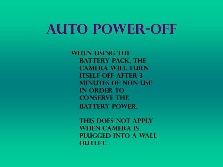 Auto Power-Off