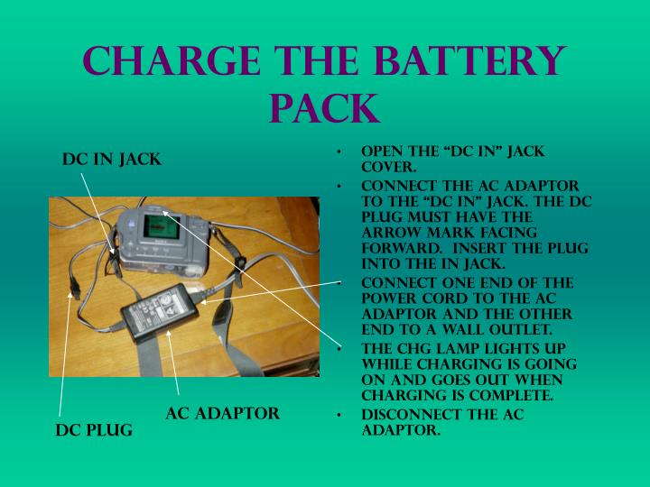 Charge The Battery Pack