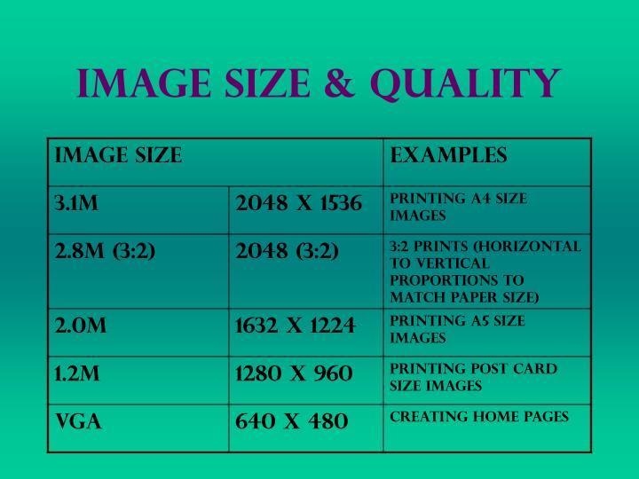 Image Size & Quality