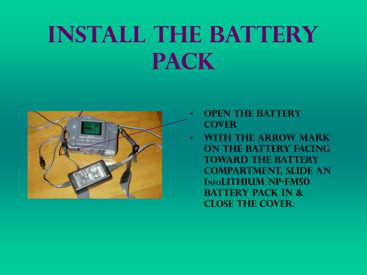 Install The Battery Pack
