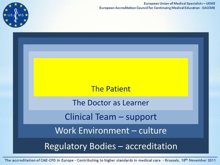 Regulatory Bodies – accreditation