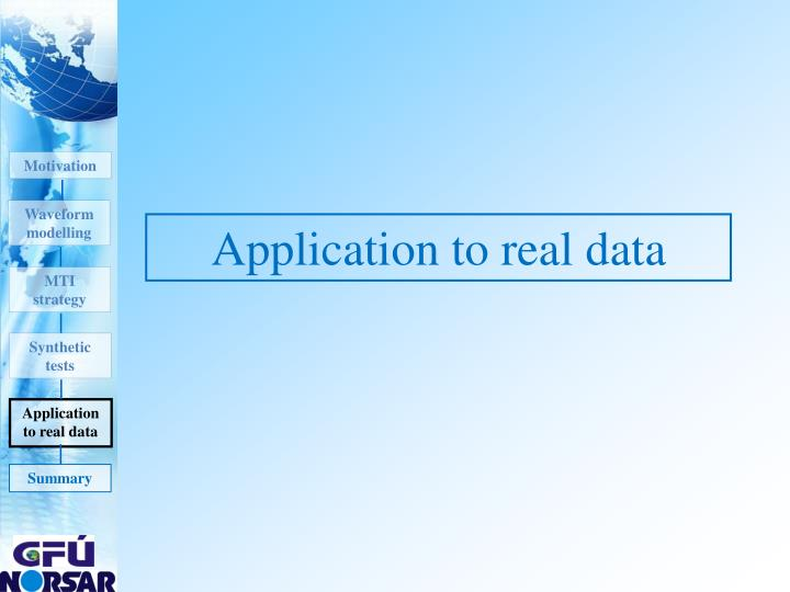 Application to real data