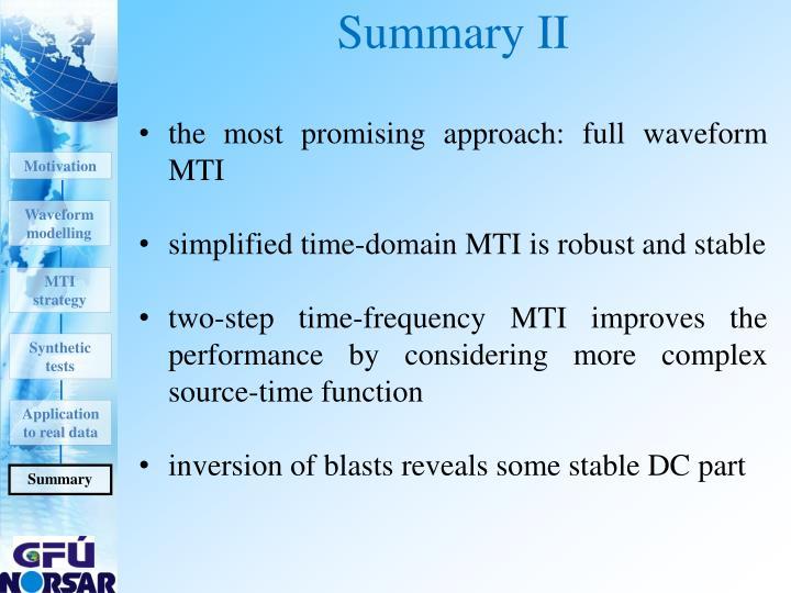 Summary II