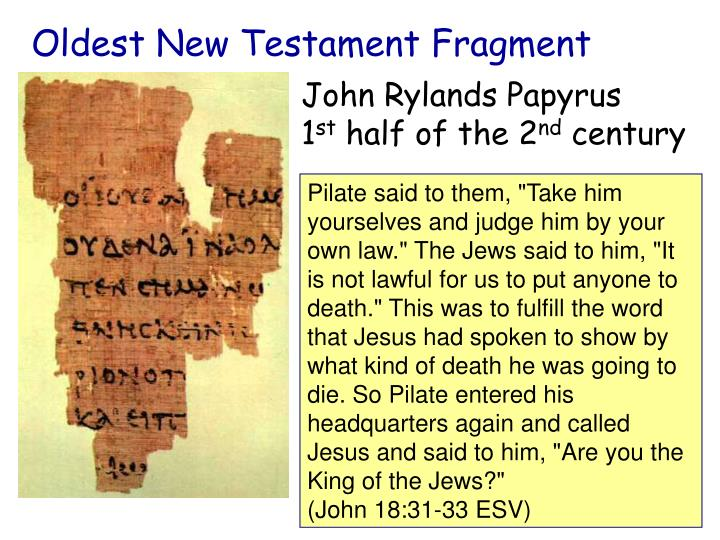 Oldest New Testament Fragment