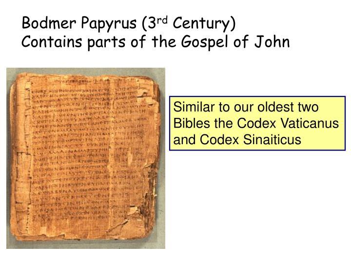 Bodmer Papyrus (3