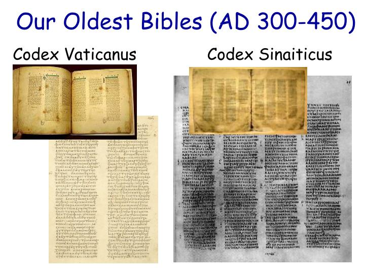 Our Oldest Bibles (AD 300-450)