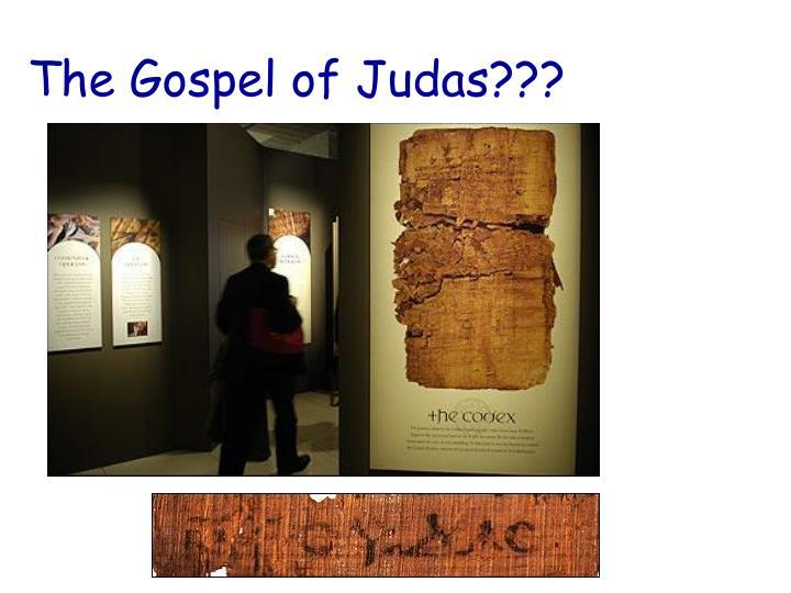 The Gospel of Judas???