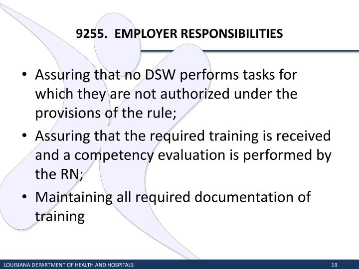 9255.  EMPLOYER RESPONSIBILITIES