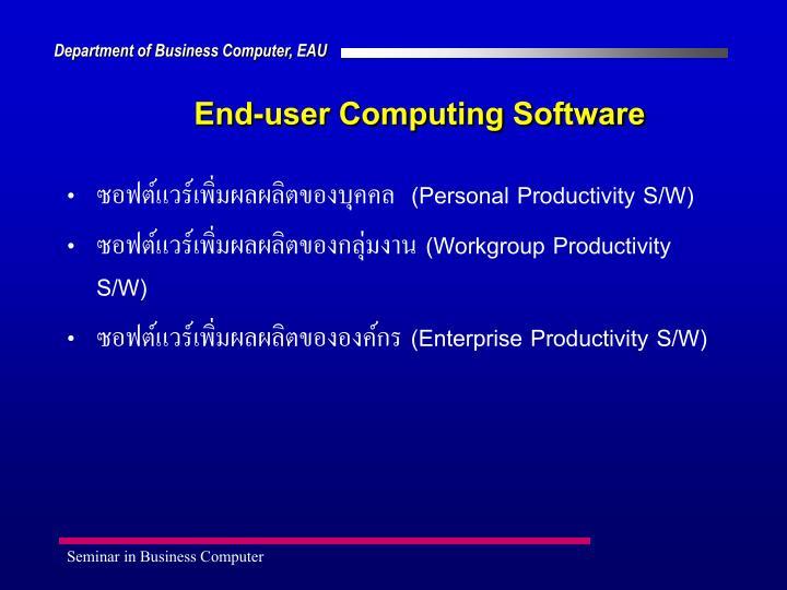 End-user Computing Software