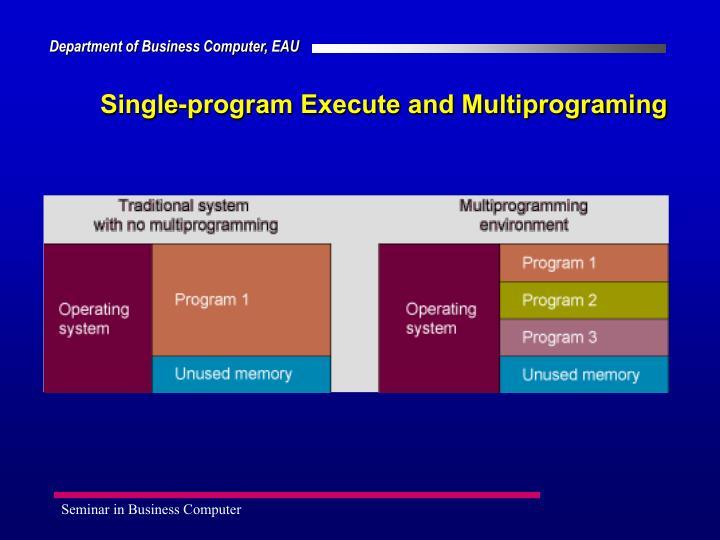 Single-program Execute and Multiprograming