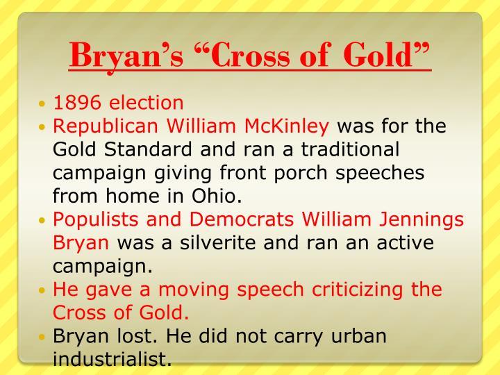 "Bryan's ""Cross of Gold"""