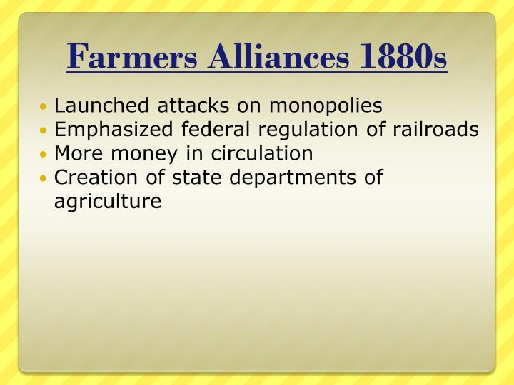 Farmers Alliances 1880s