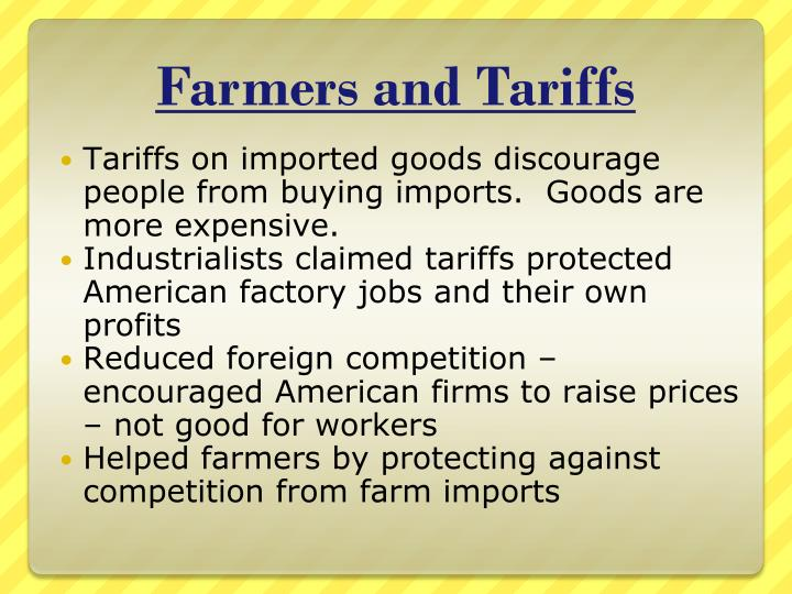 Farmers and Tariffs
