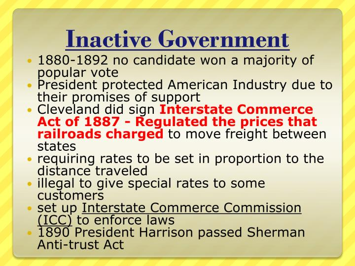 Inactive Government