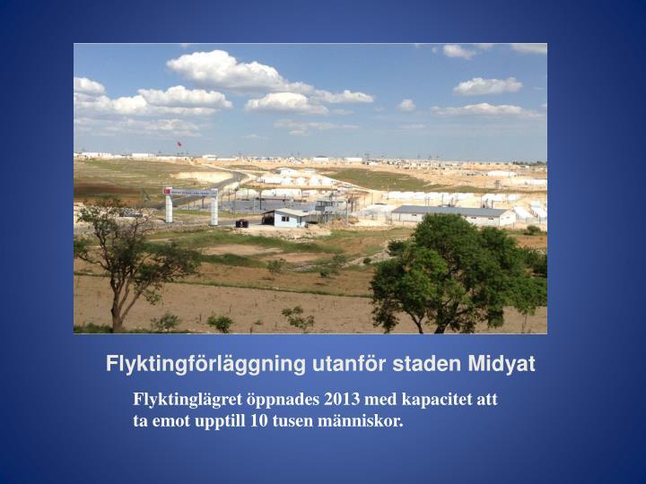 Flyktingförläggning utanför staden Midyat