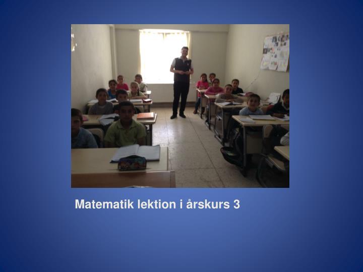 Matematik lektion i årskurs 3