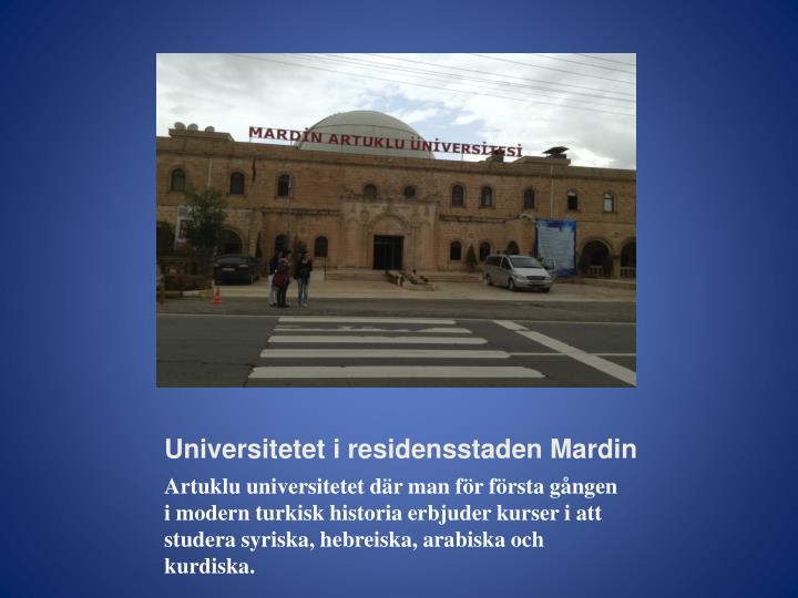 Universitetet i residensstaden Mardin