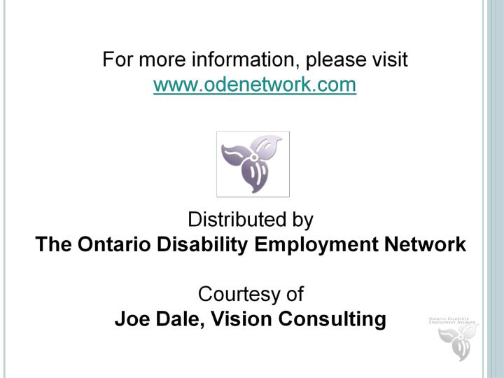 Joe Dale, Vision Consulting