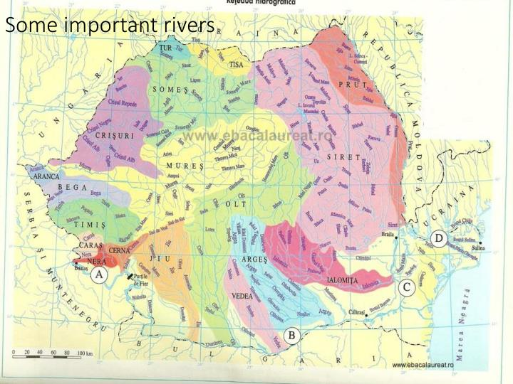 Some important rivers