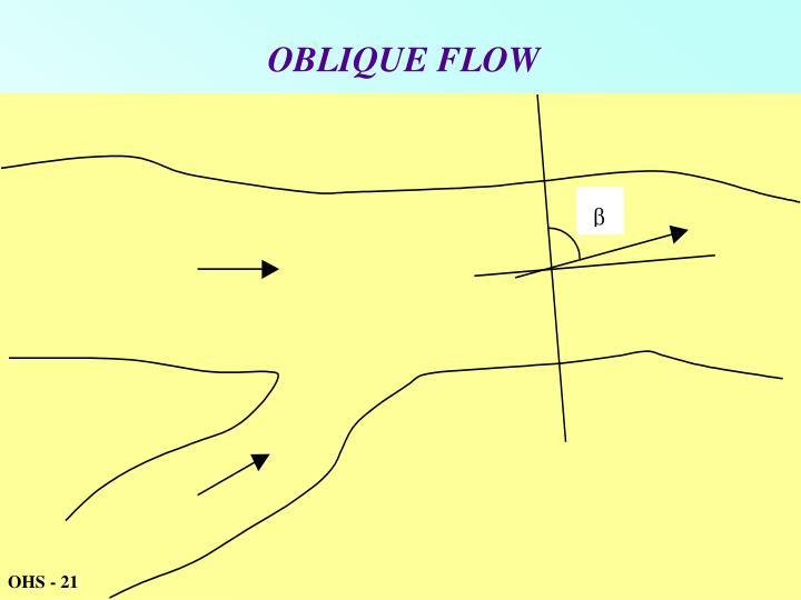 OBLIQUE FLOW