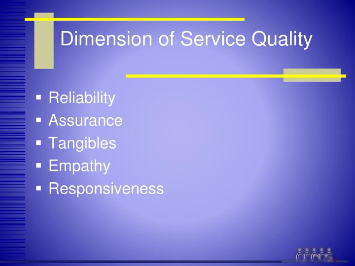 Dimension of Service Quality