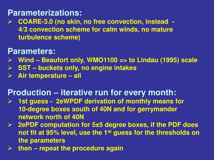 Parameterizations: