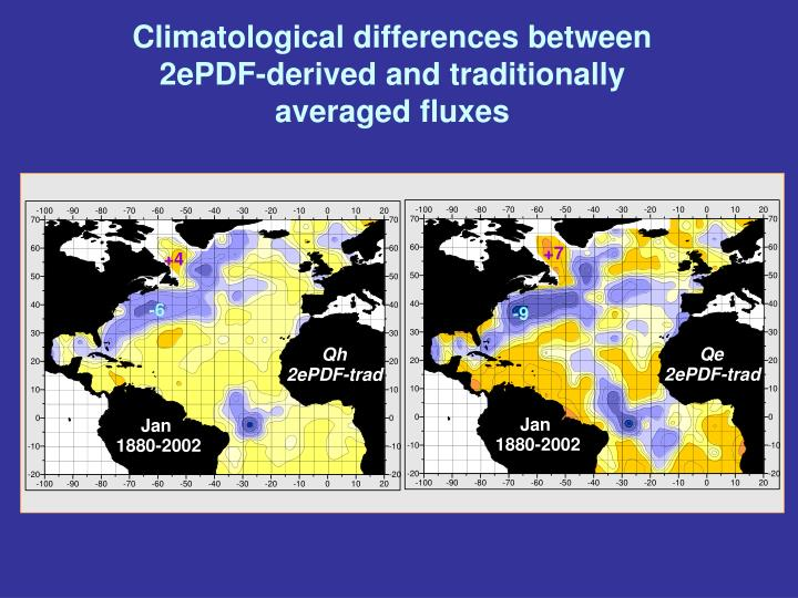 Climatological differences between