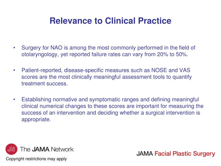 Relevance to Clinical Practice