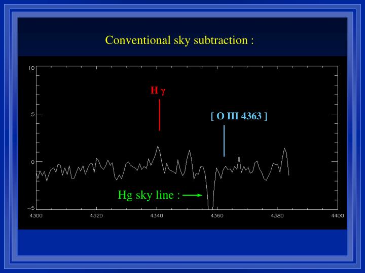 Conventional sky subtraction :