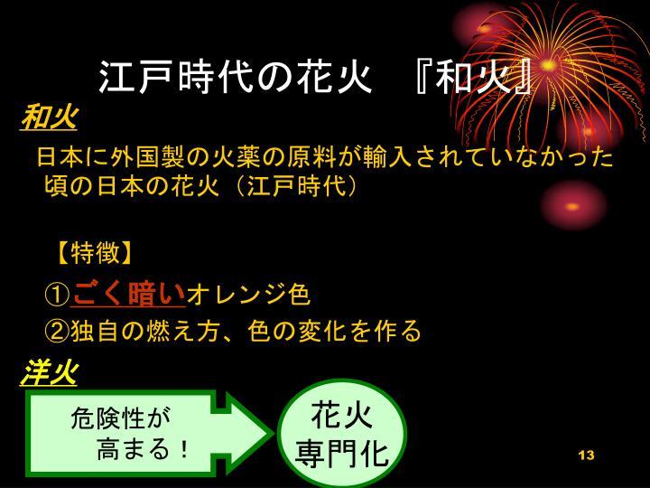 江戸時代の花火